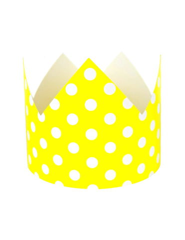 Yellow Polka Dots Party Crown