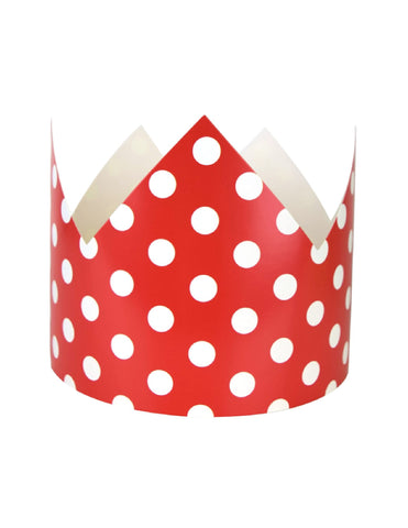Red Polka Dots Party Crown