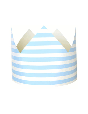 Baby Blue Stripes Party Crown