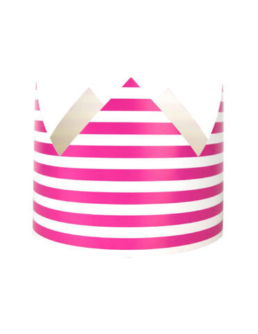 Fuchsia Stripes Party Crown