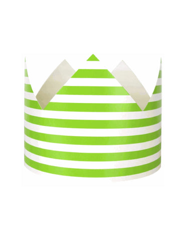 Green Stripes Party Crown
