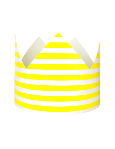 Yellow Stripes Party Crown