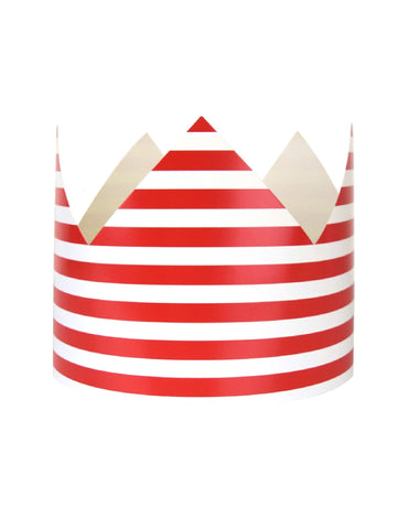Red Stripes Party Crown