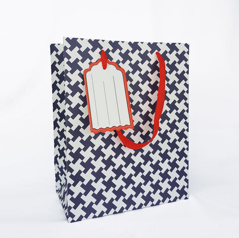 Blue Pinwheel Paper Bag