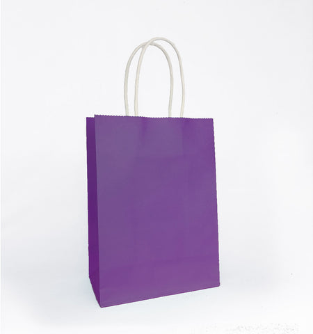 Plain Purple Paper Bag