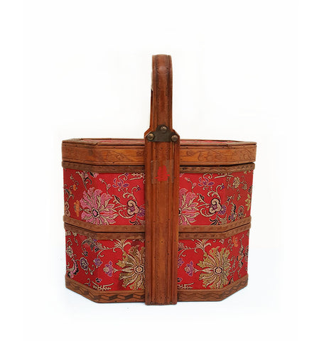 Red Patterned Basket