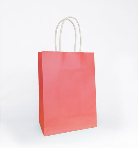 Plain Salmon Pink Paper Bag
