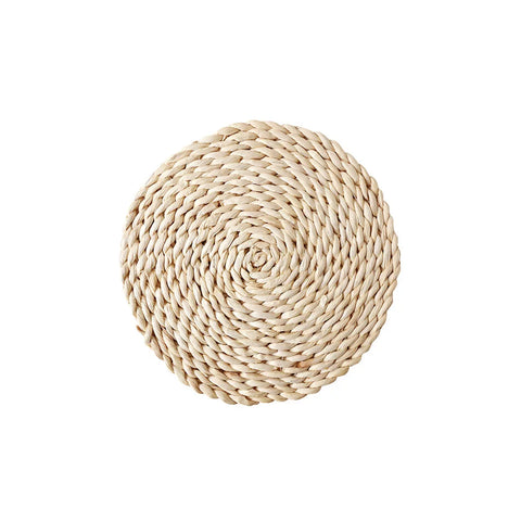 Round Straw Woven Placemat