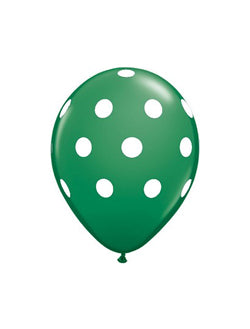 "Green Polka Dots 12"" Balloon"