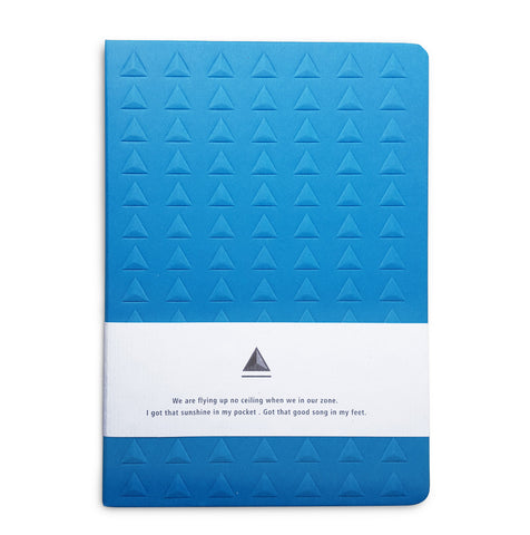 Blue Embossed Triangle Journal