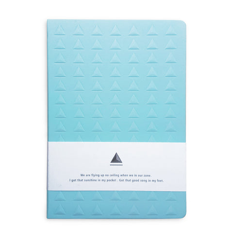 Baby Blue Embossed Triangle Journal