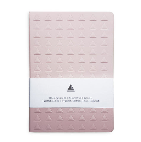 Baby Pink Embossed Triangle Journal