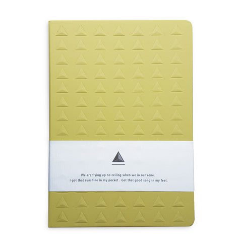 Yellow Embossed Triangle Journal