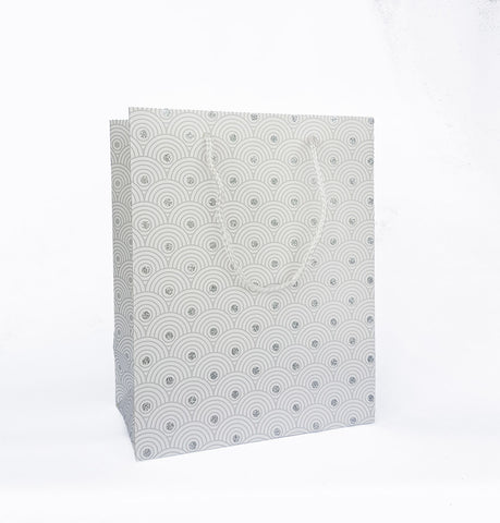 White Waves Paper Bag