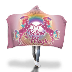 Unicorn Hooded Blanket Design 1