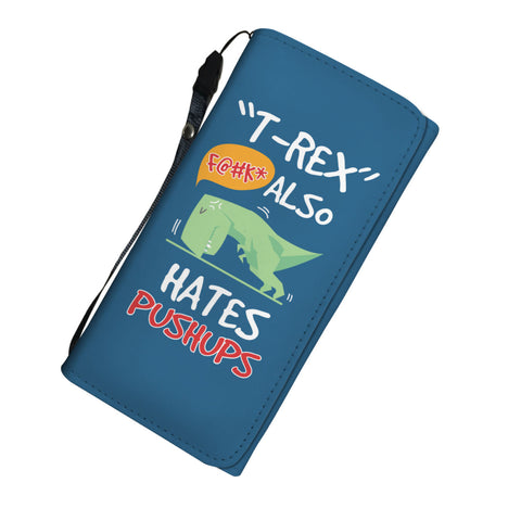 T-Rex Hates Push-Ups Purse