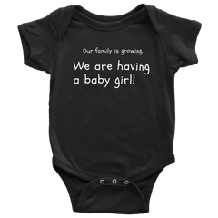 Our Family is growing baby onsie