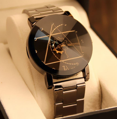 Superior New Fashion Watch Stainless Steel Man Quartz Analog Wrist Watches