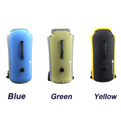 Portable Outdoor PVC Waterproof Diving Bag Travel Dry Bags Kayak Canoe Rafting Bag 25L/35L/60L Waterproof Double-Shoulder Bag