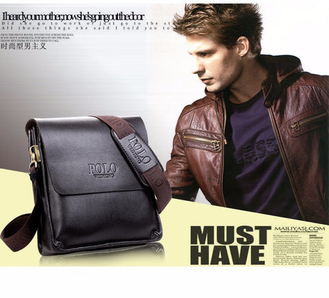 High Quality Leather POLO Men Messenger Bags