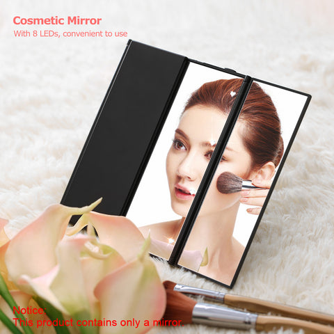 Foldable 8 LED Luminous Makeup Mirror