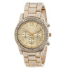 Image of Superior New Faux Chronograph Quartz Plated Classic Round Ladies Women Crystals Wrist Watch