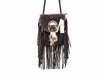 Image of Womens Festival Leather Tassel Shoulder Bag