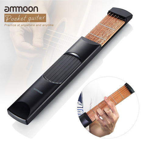 Portable Pocket Acoustic Guitar Practice Tool Guitar PartsGadget Chord Trainer 6 String 6 Fret Model for Beginner
