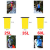 Image of Portable Outdoor PVC Waterproof Diving Bag Travel Dry Bags Kayak Canoe Rafting Bag 25L/35L/60L Waterproof Double-Shoulder Bag