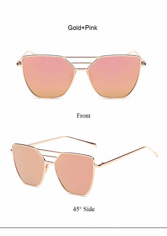 Flat Top Mirror Sunglasses