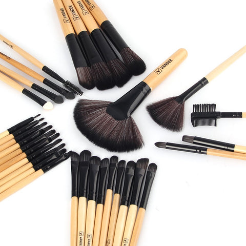 VANDER 32Pcs Set Professional Makeup Brush Foundation Eye Shadows Lipsticks Powder Make Up Brushes Tools w/ Bag