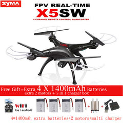 SYMA X5SW X5SW-1 FPV RC Drone 2.4G 6-Axis Quadcopter With WiFi Camera Real Time Video Remote Control Helicopter Quadrocopter