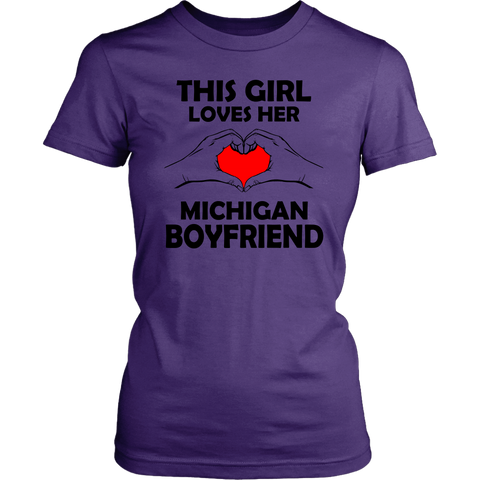 Girl Who Loves Her Michigan Boyfriend Assorted T-shirts