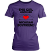Image of Girl Who Loves Her Michigan Boyfriend Assorted T-shirts