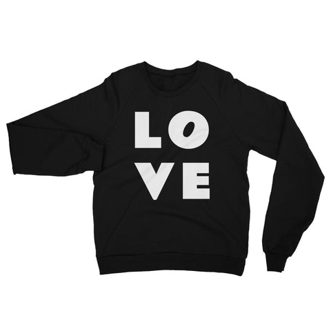 LOVE Unisex California Fleece Raglan Sweatshirt