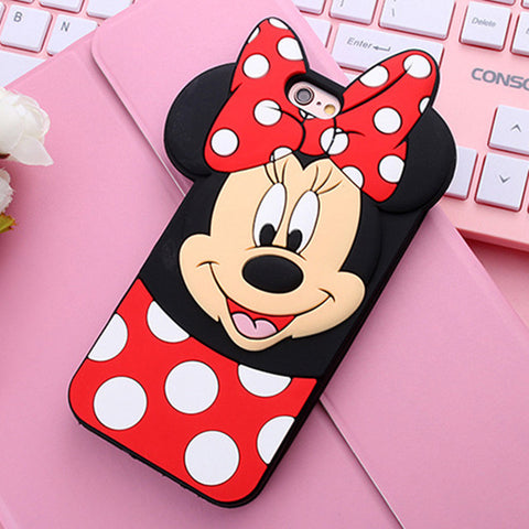 Fashion 3D Cartoon Silicone Phone Case For iPhone 6 Cases 5 5S 6S 6 Plus for iPhone 7 Cases Cover Capa Fundas