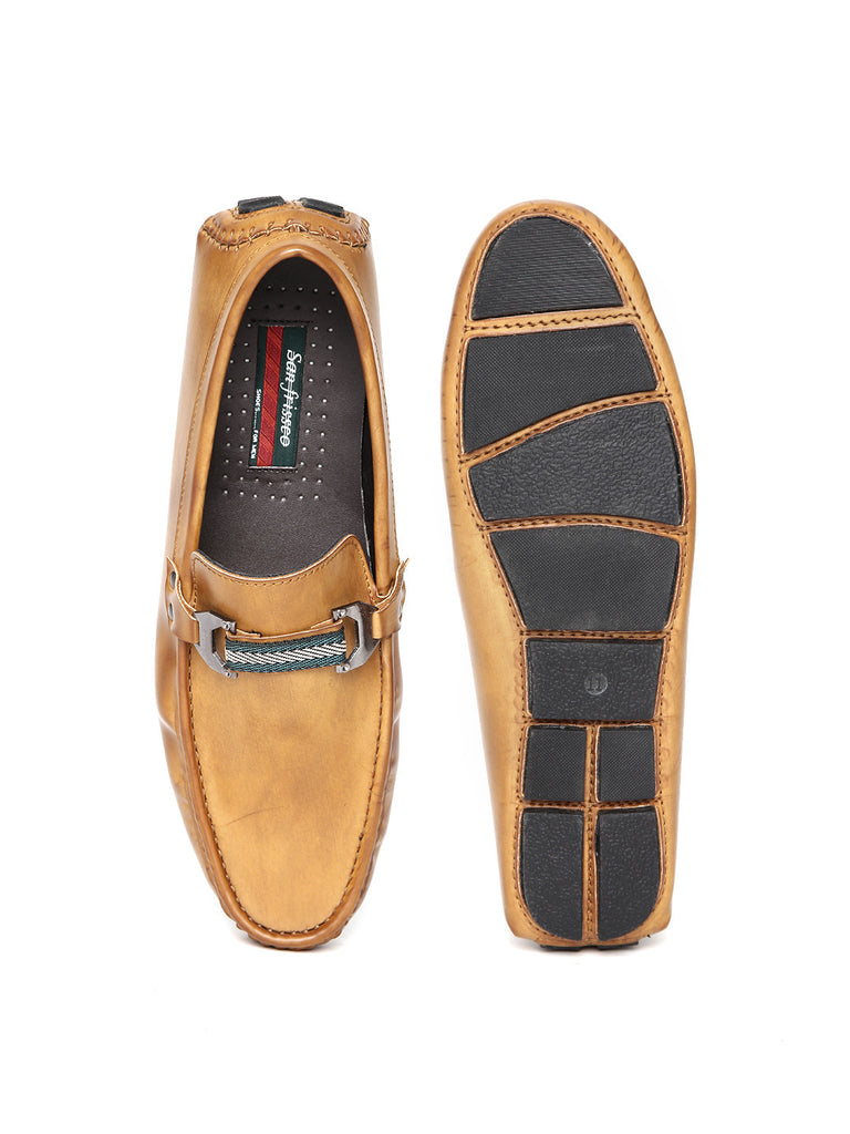 San Frissco Men Tan Brown Loafers