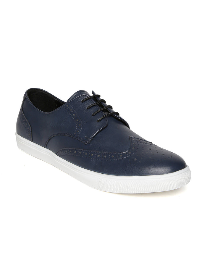San Frissco Men Black Leather Casual Shoes