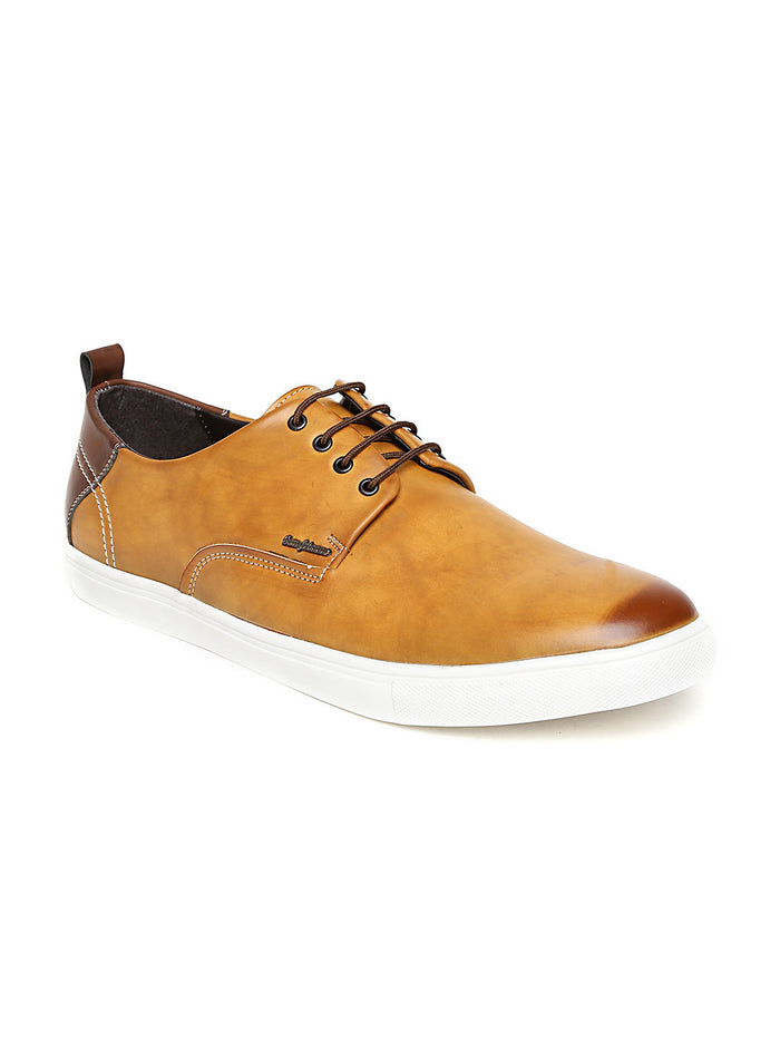 San Frissco Men Tan Brown Sneakers