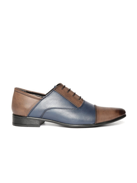 San Frissco Men's Blue Brown Formal Lace-ups