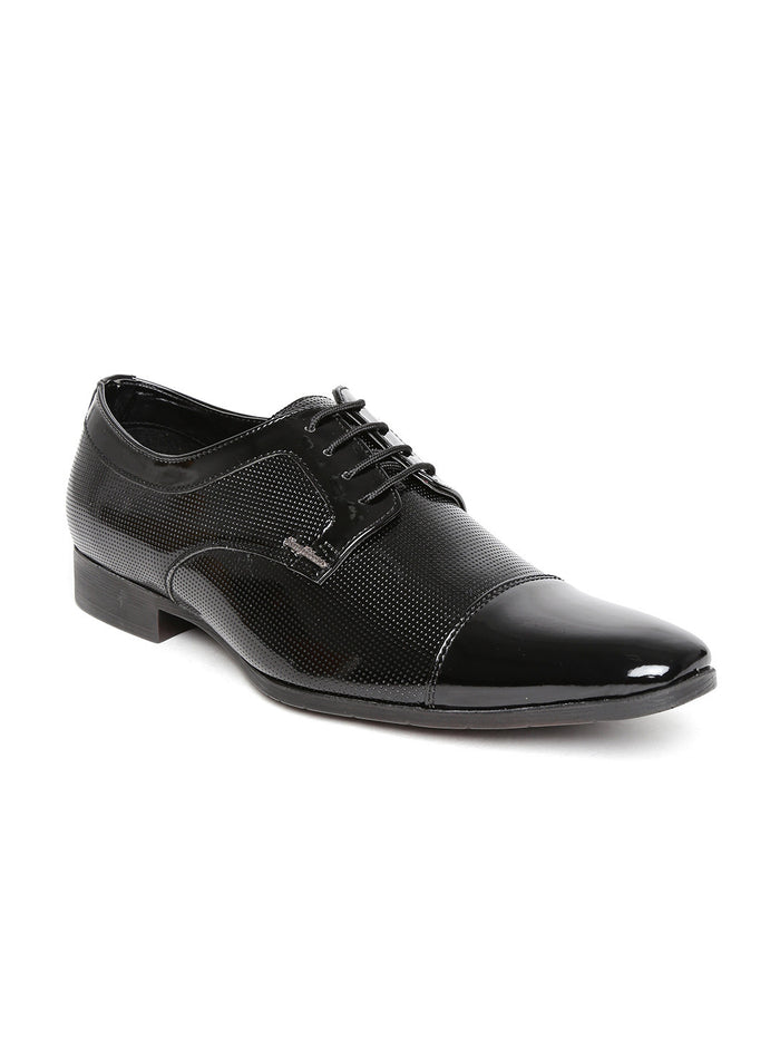 San Frissco Men Black Glossy Formal Shoes
