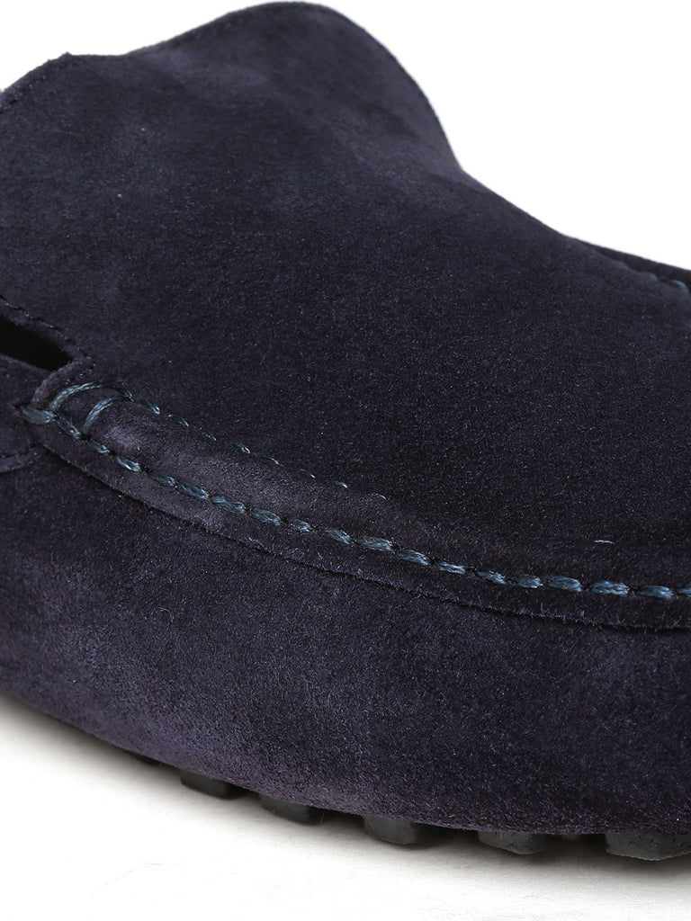 San Frissco Men Navy Suede Loafers