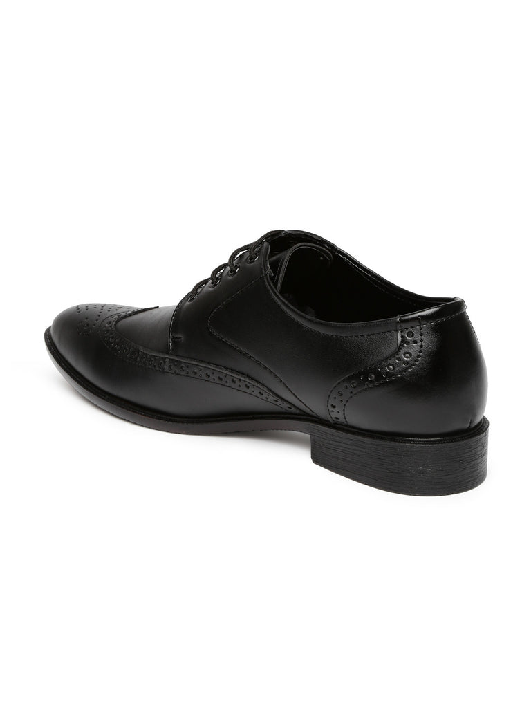 San Frissco Men Black Formal Brogues