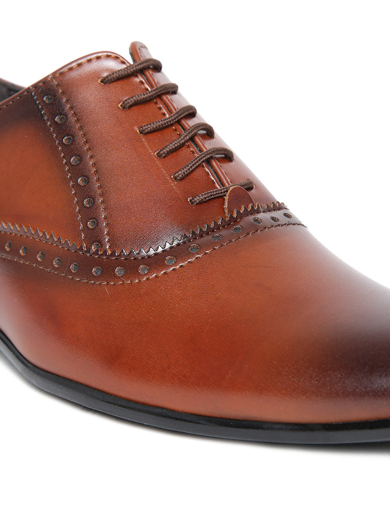 San Frissco Men Tan Brown Formal Shoes