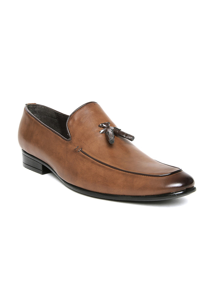 San Frissco Men Brown Slip-On Semiformal Shoes