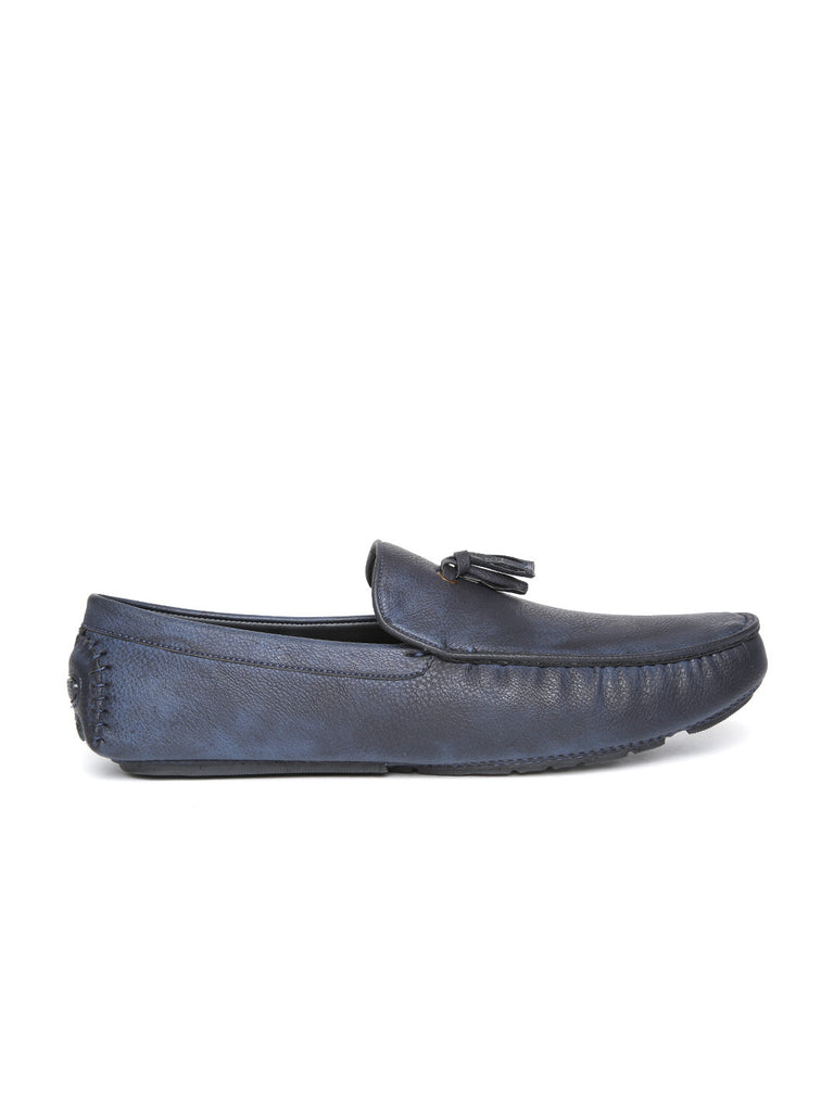 San Frissco Men Navy Textured Loafers