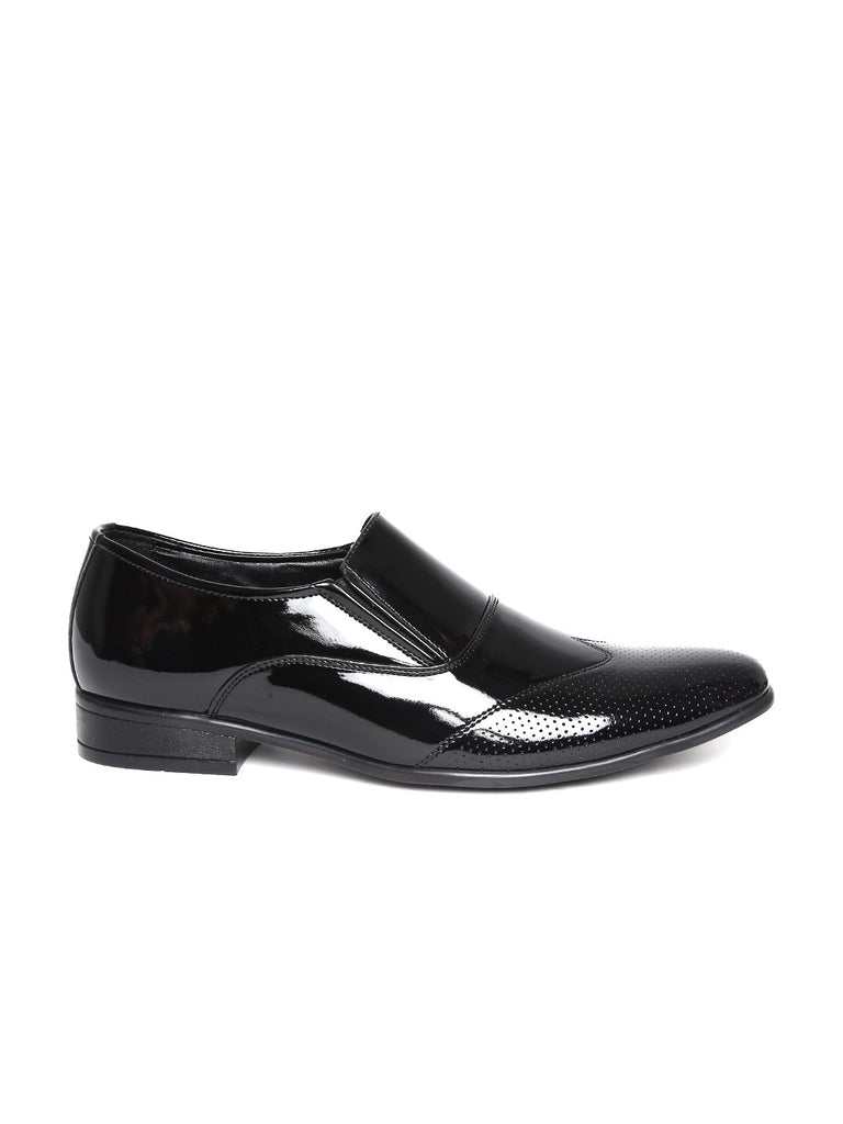 San Frissco Men Black Glossy Semiformal Shoes