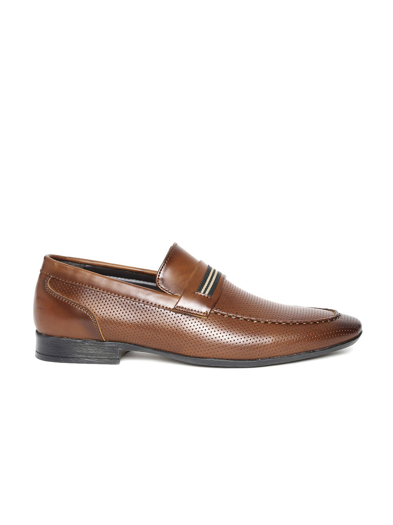 San Frissco Men Cognac Semiformal Shoes