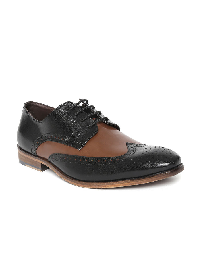 San Frissco Men Black Brogues