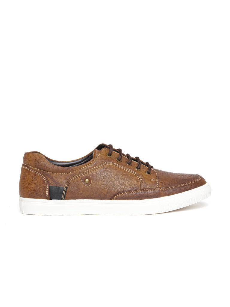 San Frissco Men Tan Textured Casual Shoes